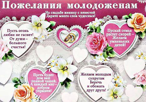 Поздравления, пожеланиясо свадьбой красивые короткие