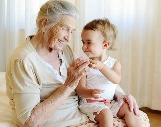 Люблю я бабушку и к ней Бегу, дождавшись вечера:
