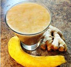 Для этого рецепта вам нужно взять банан, и корень имберя