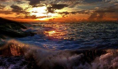 Буря на небе вечернем, Моря сердитого шум - Буря на море и думы,