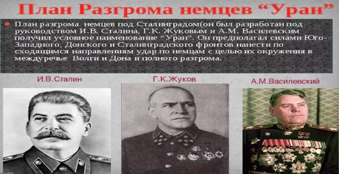 """В сентябре 1942 г Сталин разрабатывает сверхсекретную наступательную операцию """"Уран"""","""