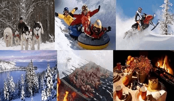 экскурсионные туры, конные прогулки, катания на собачьих упряжках, лыжах или снегоходах